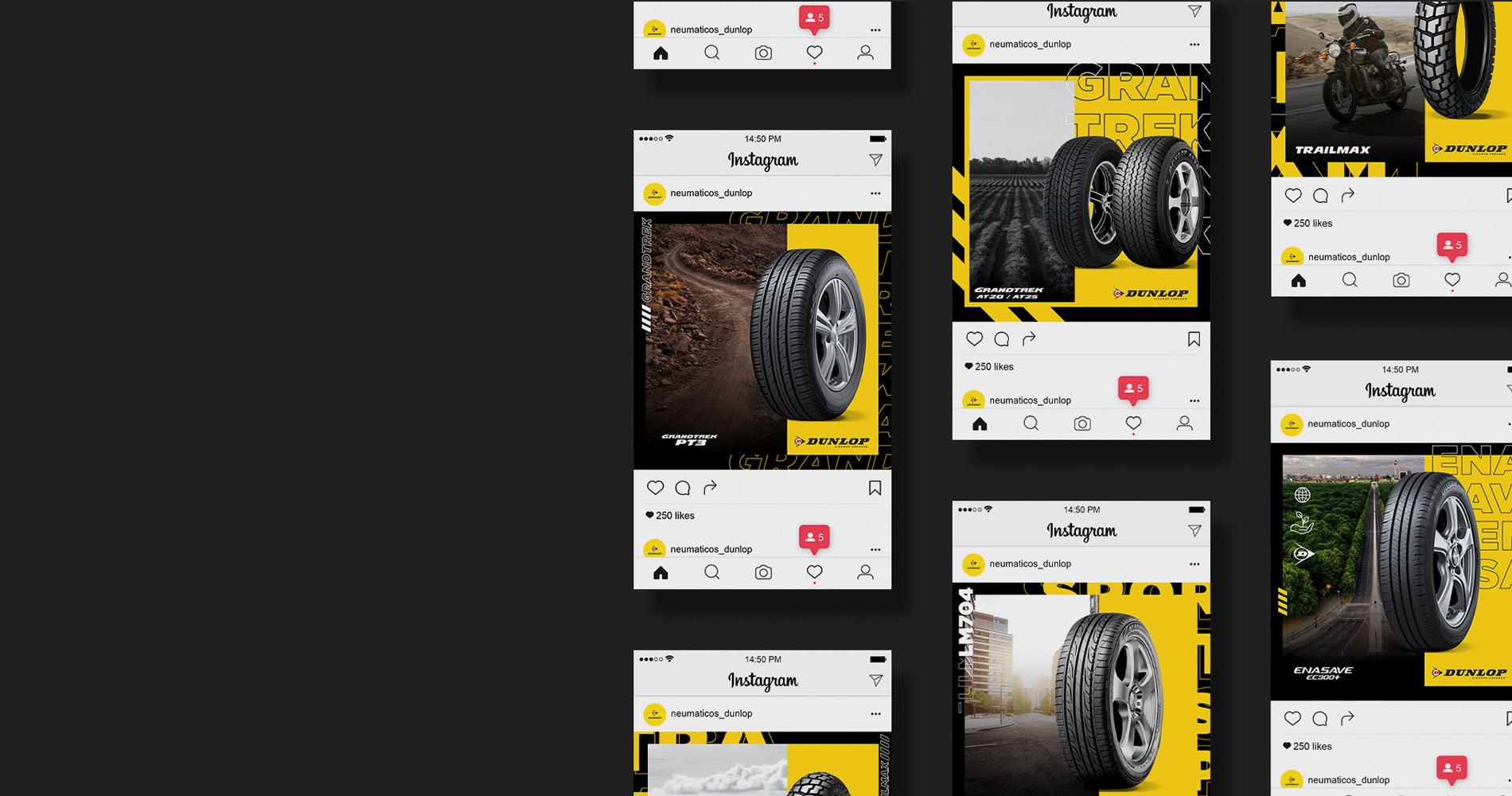 Dunlop neumáticos - Social Media